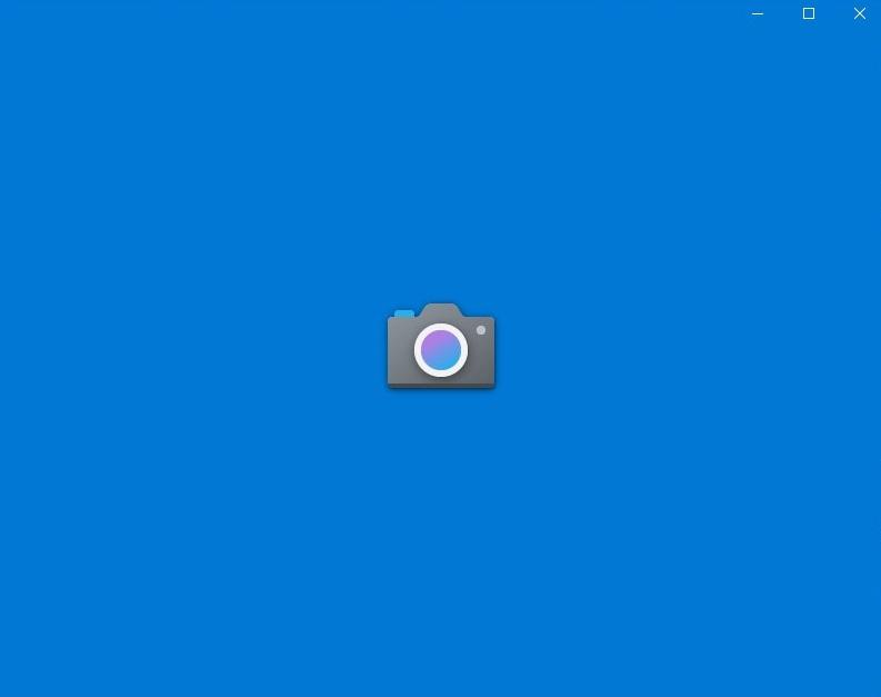 Windowsスタート>カメラでカメラアプリを起動