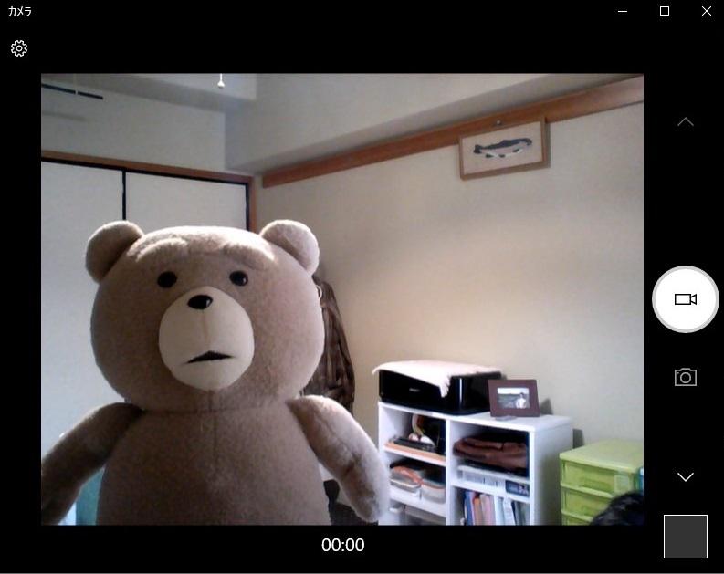 Windowsカメラでアスペクト比4:3を設定した様子