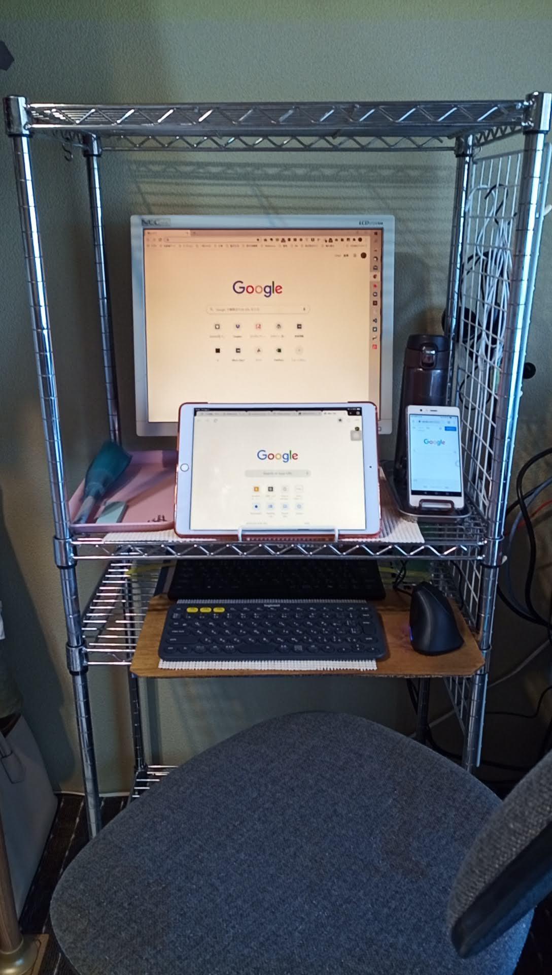 メタルラックでPCデスクを自作